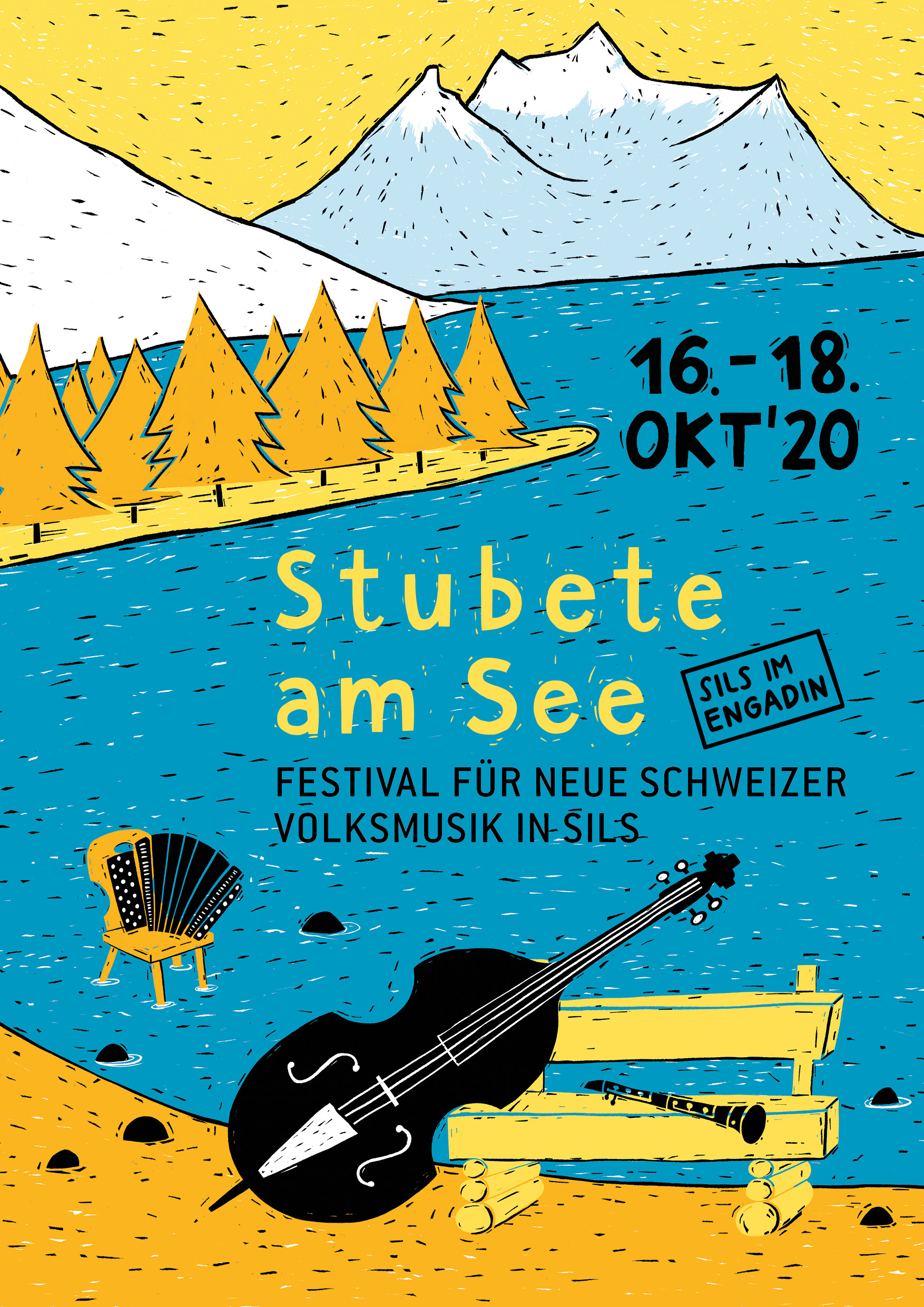 Key Visual Stubete am See Sils im Engadin 2020
